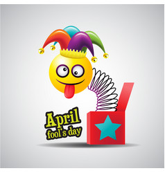 april fools day typography colorful vector image