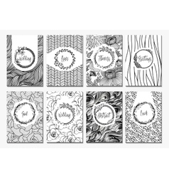 Banner creative cards vector image vector image