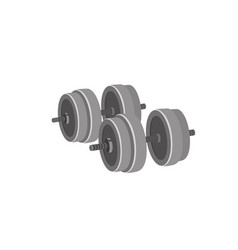 big weight for both arms dumbbell cartoon vector image