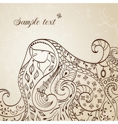 Long haired girl vector image