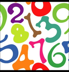 Seamless pattern of numbers vector image