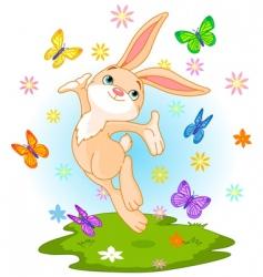 spring bunny vector image vector image