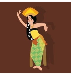 bali balinese dancer traditional indonesia dance vector image