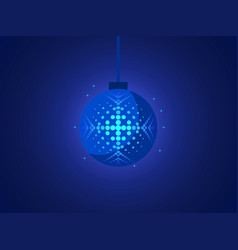 christmas ball with snowflake of pop art style vector image vector image