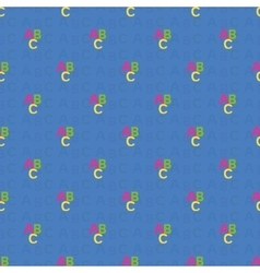 seamless pattern with letters of the ABC vector image
