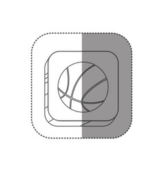 sticker square silhouette button with contour vector image vector image