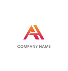 A initial company logo vector