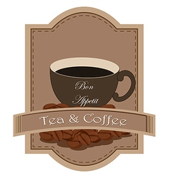 A tea and coffee label vector