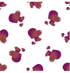 abstract seamless pattern of hearts on white vector image