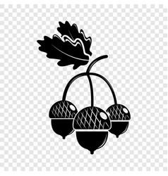 Acorn icon simple black style vector