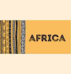 African background flyer with tribal traditional vector