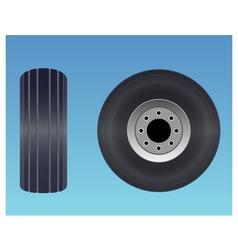 Aircraft tire vector image