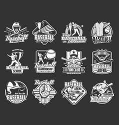 Baseball sport league badge softball championship vector