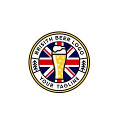 beer logo design vector image