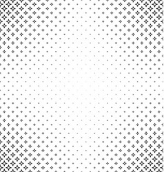 Black and white thorn pattern background vector