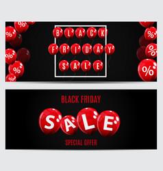 Black friday sale balloon concept of discount vector