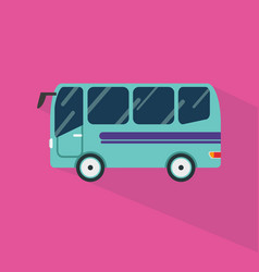 bus icon set of great flat icons with style long vector image