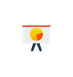 Chart icon flat element of vector