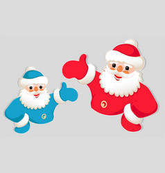 christmas drawing of santa claus silhouette with vector image