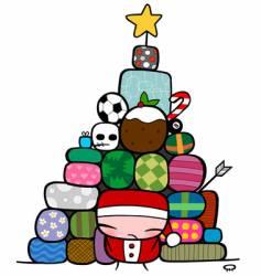 Christmas presents vector