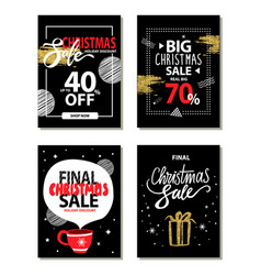 christmas sale collection vector image
