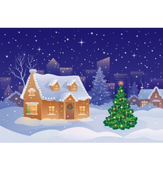 Christmas suburb vector image