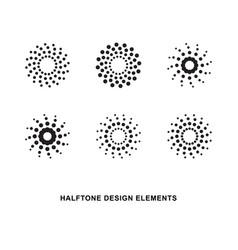circular halftone dots forms vector image