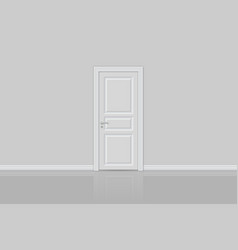 closed realistic door isolated vector image