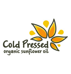 Cold pressed organic oil for cooking and health vector