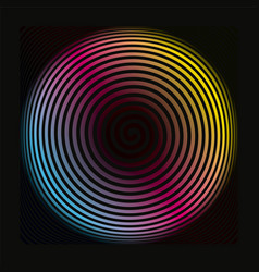 Colored spiral background pattern vector