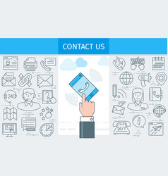 contact us banner2 vector image