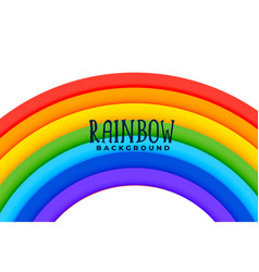 curved rainbow colorful background design vector image