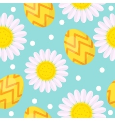 Cute Easter seamless pattern with eggs and vector image