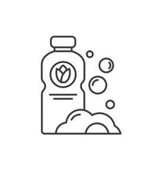 detergent line icon concept detergent vector image