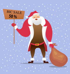 fatherchristmassale vector image