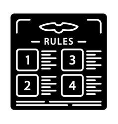 Flight rules glyph icon vector