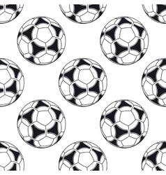 Football or soccer seamless pattern vector image