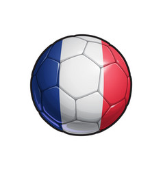 French flag football - soccer ball vector