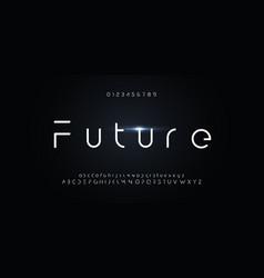 futuristic font alphabet future for modern vector image