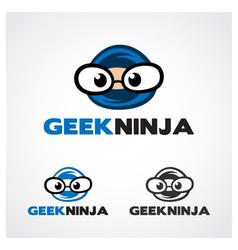 Geek Ninja Symbol vector