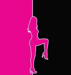 Girl pink and black vector
