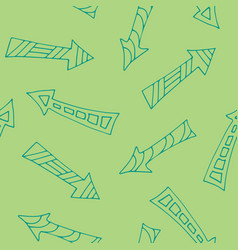 hand drawn arrows seamless pfttern doodle style vector image