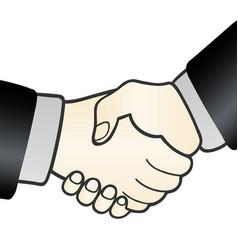 handshake sign agreement vector image