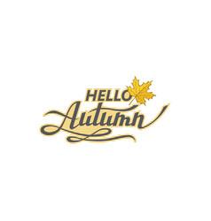 hello autumn label vector image