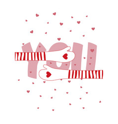i love you so much greeting card for valentines vector image