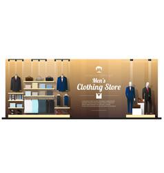 interior background luxury men clothing store vector image