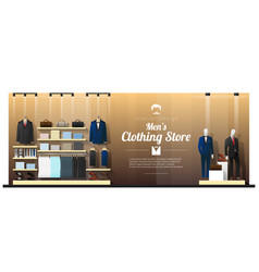 interior background of luxury men clothing store vector image