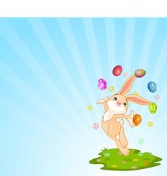juggling bunny vector image
