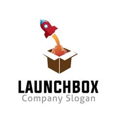 Launch box design vector