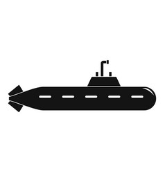 Military submarine icon simple style vector